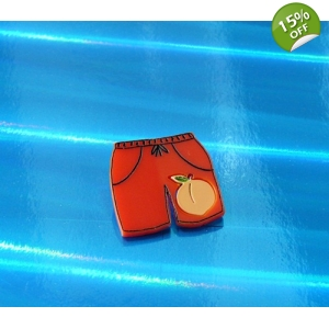 Ltd Edt Elio's Peach Oliver shorts Pin..