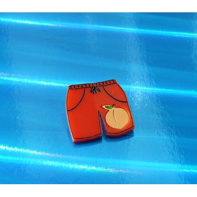 Ltd Edt Elio's Peach Oliver shorts Pin Badge
