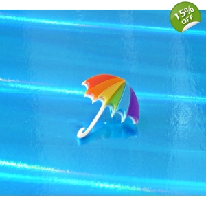 LTD Edt Rainbow Umbrella pin badge