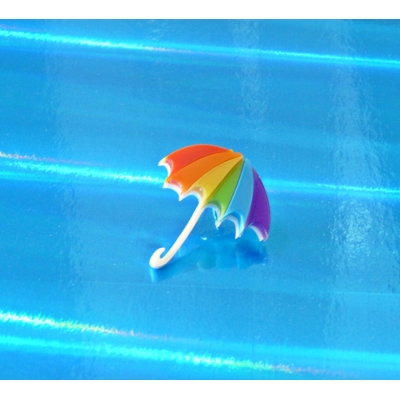 LTD Rainbow Umbrella pin badge