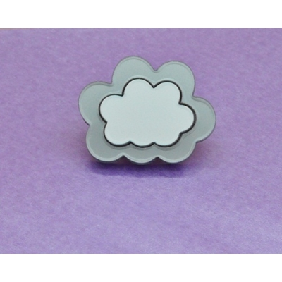 Limited Edition Every Cloud Silver Lining Pin title=