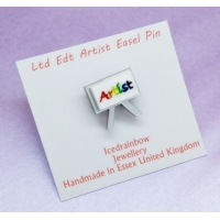 Ltd Edt Artist Painters Easel Pin..
