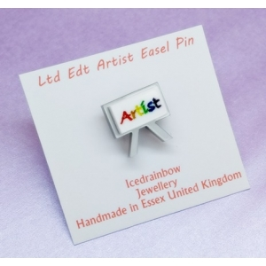 Ltd Edt Artist Painters Easel Pin Badge