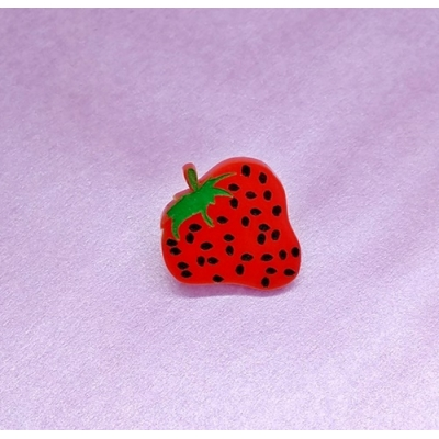 Strawberry Fruit Pin Brooch Badge title=