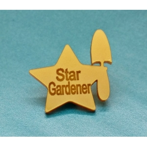 Ltd Edt Gold Star Gardener Pin Badge