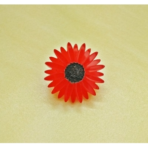 Deluxe RED Gerbera Pin ..