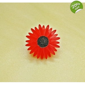 Deluxe RED Gerbera Pin lapel Brooch Ba..