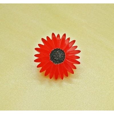 Deluxe RED Gerbera Pin lapel Brooch Badge title=