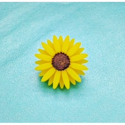 Deluxe Yellow Sunflower Pin lapel Brooch Badge title=