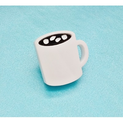 Mug of Hot Chocolate With marshmallows lapel Pin badge title=
