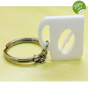 Coffee bean mug Charm Keyring