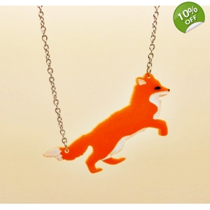 Leaping Fox Necklace