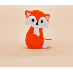 Orange Fox lapel pin badge