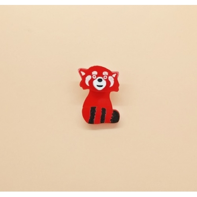 Red Panda Pin brooch lapel Hat Jacket title=