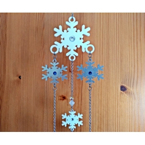 Limited Edition Snowflake Mobile Wind chime