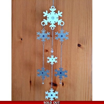 Limited Edition Snowflake Mobile Wind chime title=