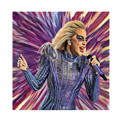 Ltd Edt LADY GAGA Giclee art print COPY title=