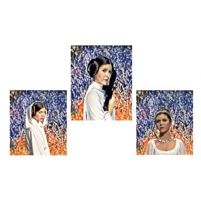 Ltd Edt Carrie Fisher Princess Leia Giclee Art print title=