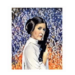 Ltd Edt Carrie Fisher Princess Leia Giclee Art print