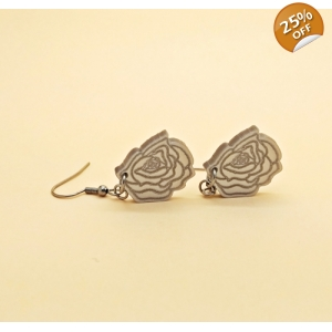 Rose Dangly Drop Earrings