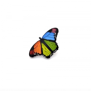 Rainbow Butterfly brooc..