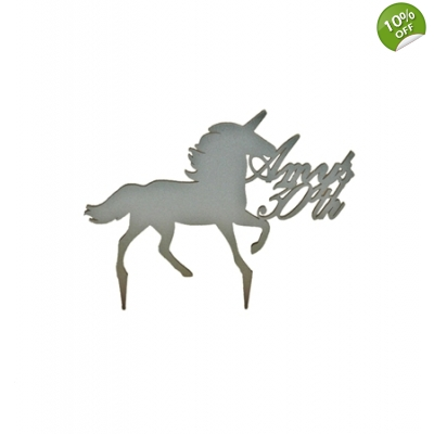 Personalised Unicorn Cake Topper title=