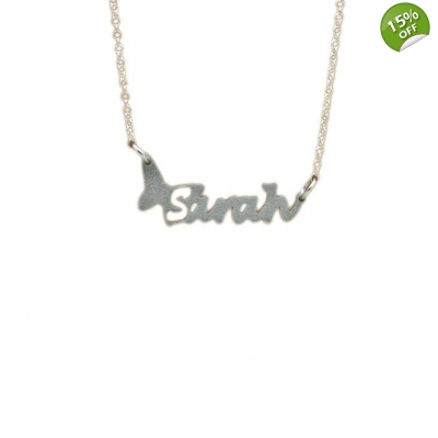 Butterfly Personalised Name Necklace title=