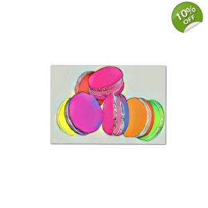Rainbow Macarons Food Wall pop Art Print