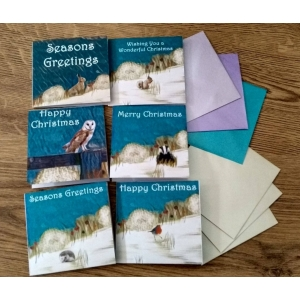 Winter Animal Themed Christmas Greetin..