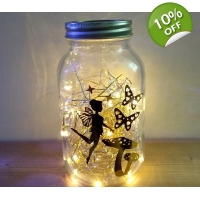 Gold fairy light lamp lantern lar..