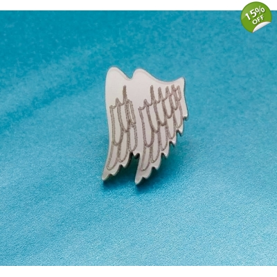 Guardian Angel Wings Pin title=