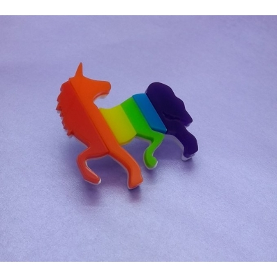 Limited Edition Rainbow Unicorn Pin title=