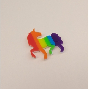 Limited Edition Rainbow Unicorn Pin brooch