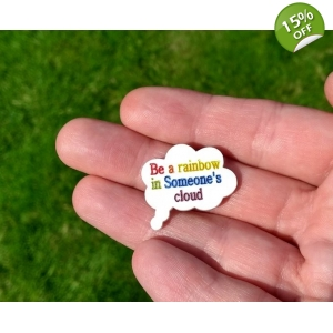 Thought Cloud Speech Lapel Badge Pin v..