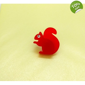 Red Squirrel Pin Brooch