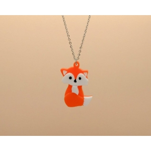 Sitting baby fox Necklace