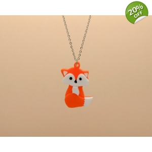 Orange Fox Necklace