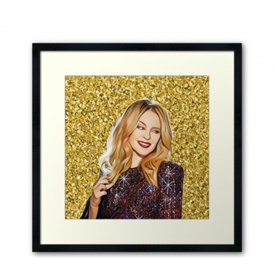 She's golden & going out dancing Kylie Minogue Giclee art print title=