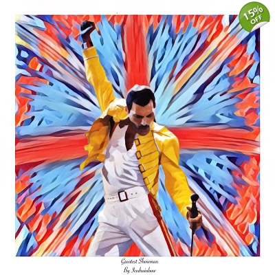 Greatest showman Freddie Mercury Giclee art print title=