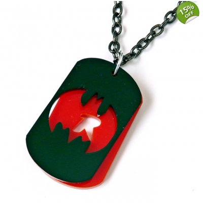 Batman and robin deluxe dog tag necklace title=