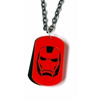 Deluxe iron Man Dog tag Necklace