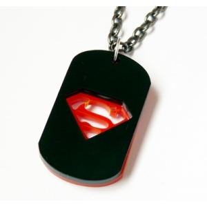 Deluxe Superman Dog tag Necklace