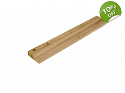 Long Wooden Slanting Ledge