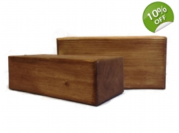 Wooden Block - EXTRA -  varnished, stained