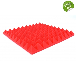 8x Red Pyramid Foam Tiles Profiled Pyramid Foam ..