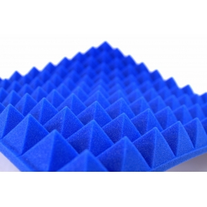 Blue Industrial Studio Foam Sound Insulation Profile Pyramid 50mm Foam
