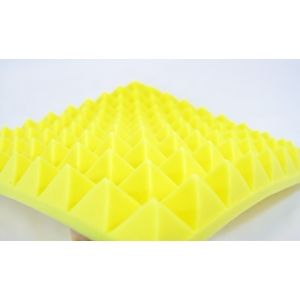 Yellow Studio Foam Insulation Profiled Pyramid 50mm Foam Insulation
