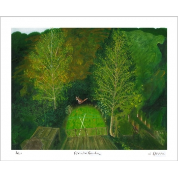 Fox in the Garden - print