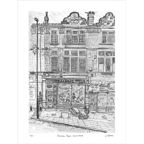 Preston Bar, Oakwood - print