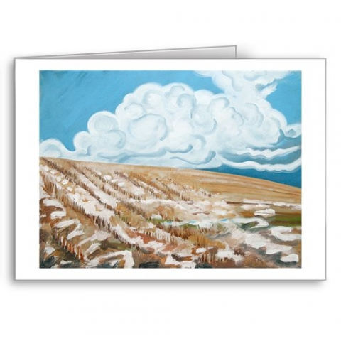 Snow on Field - card